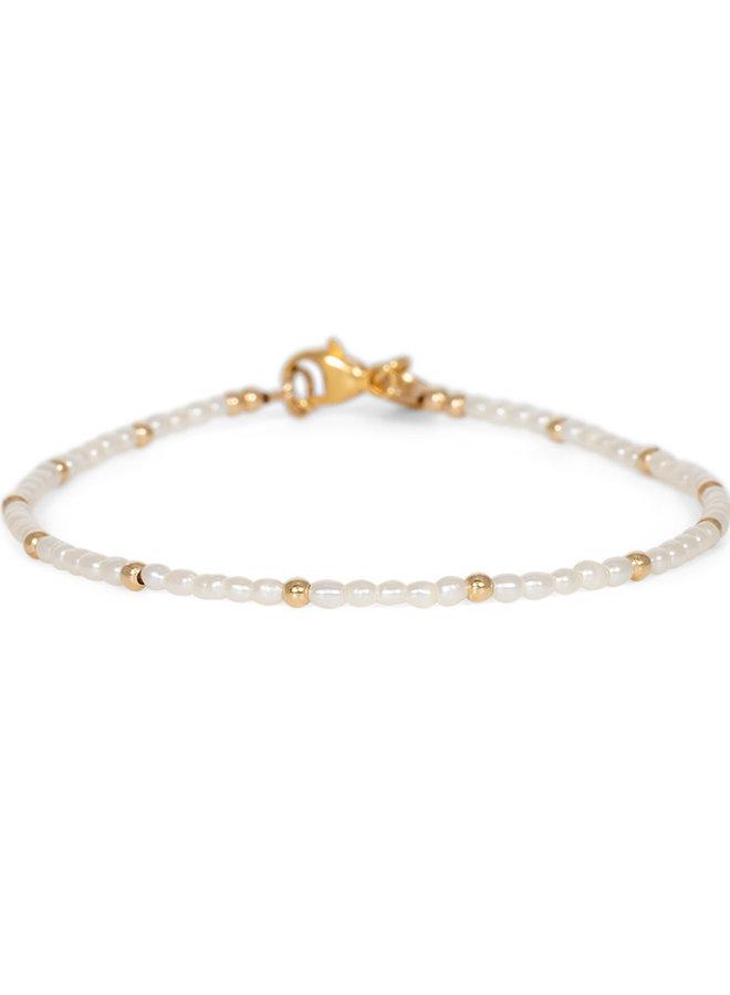 Armband goud – mini pearl