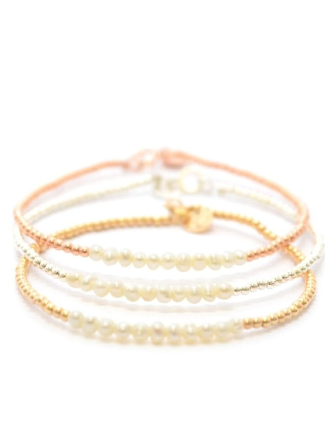 Armband zilver – pearl