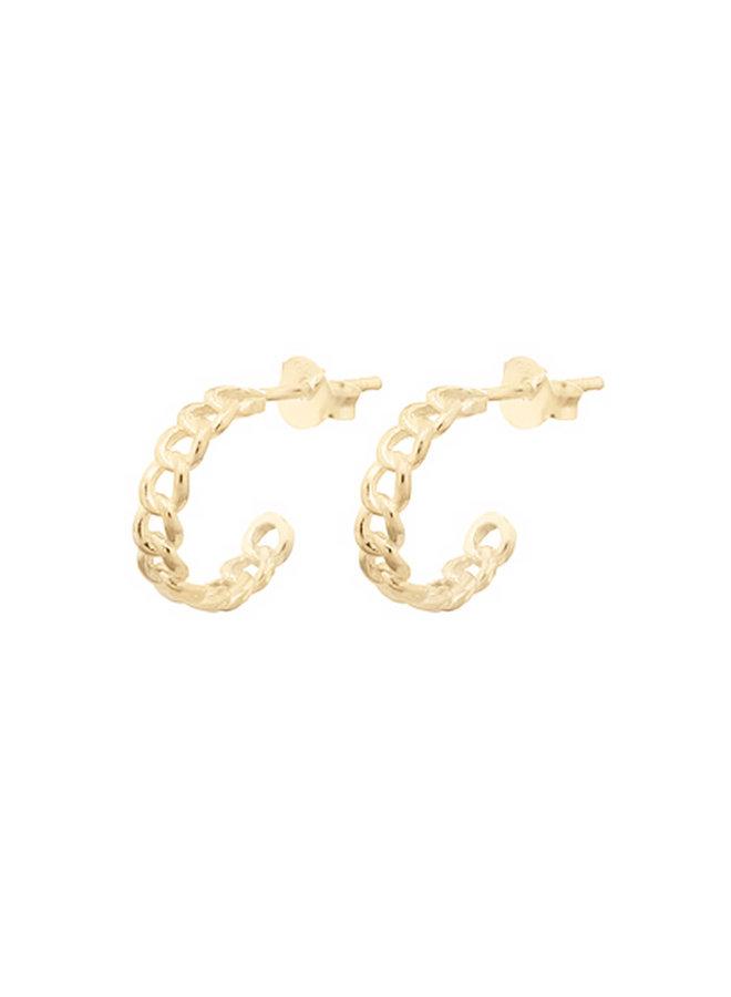 Oorbellen goud – chain hoop