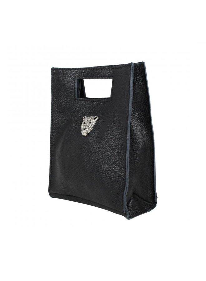 Tiger bag SILVER - Zwart (S)