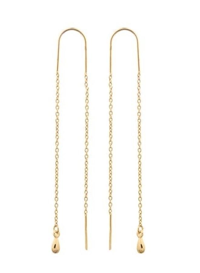 Oorbellen goud – double line II