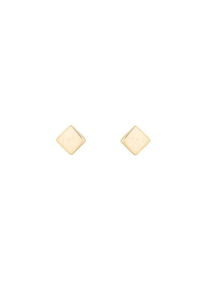 Oorbellen goud - mini square