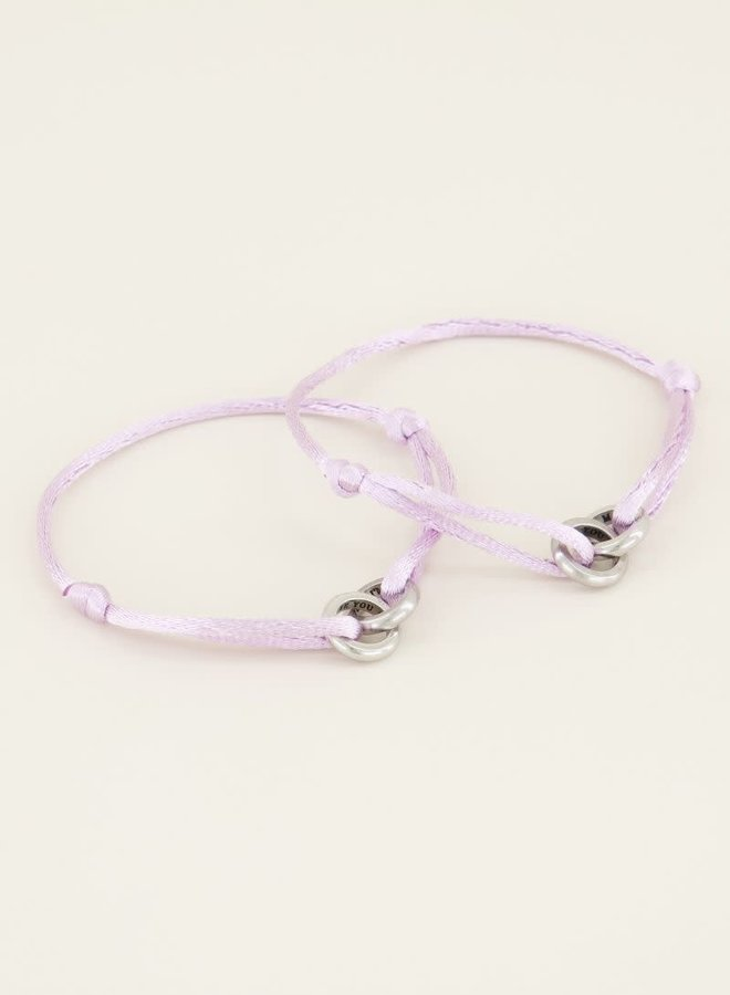 Lila forever connected armband