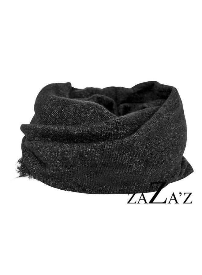 Effen sjaal loop - Black