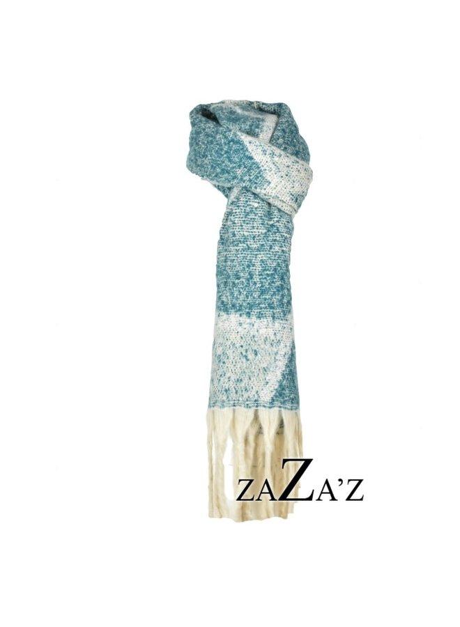 Dikke sjaal met driehoekig patroon