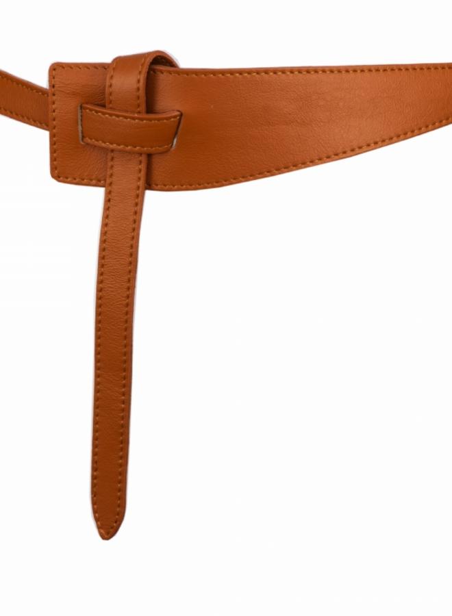 Belt 6 cm  - Cognac