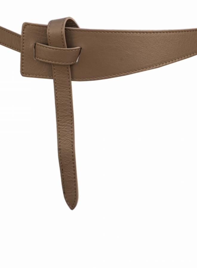 Belt 6 cm  - Taupe