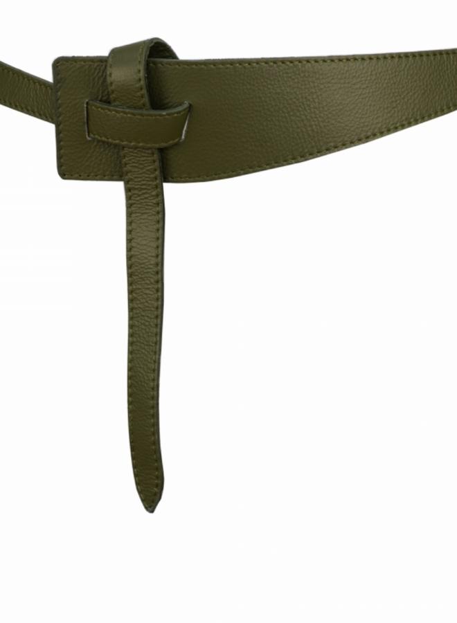 Belt 6 cm  - Olive Green