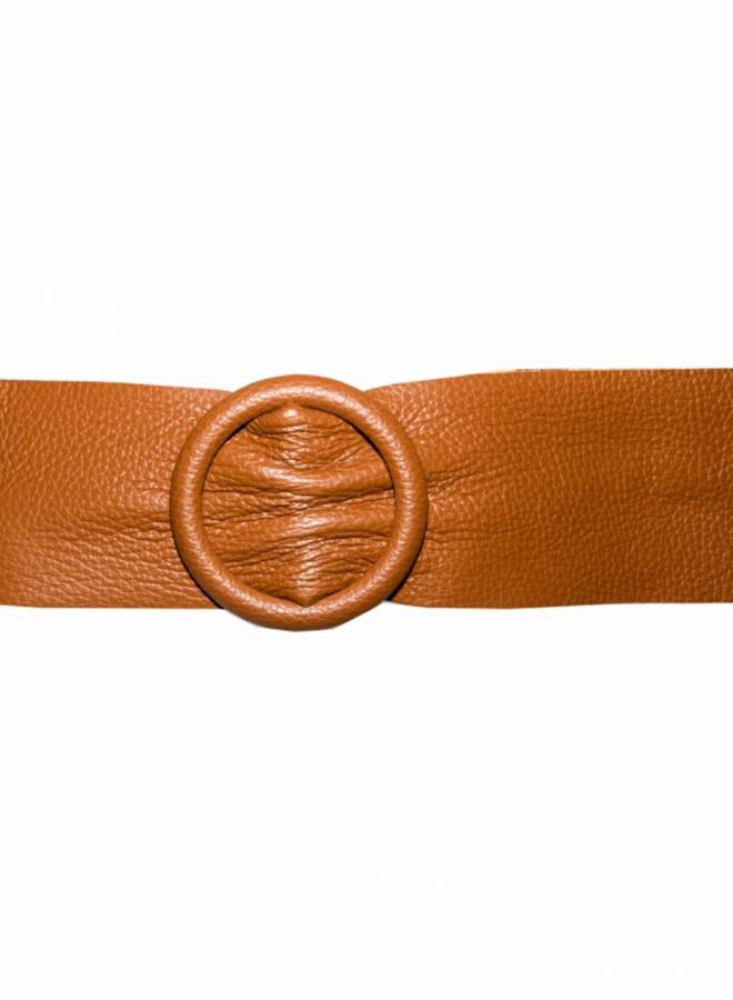 Belt 8 cm - Cognac