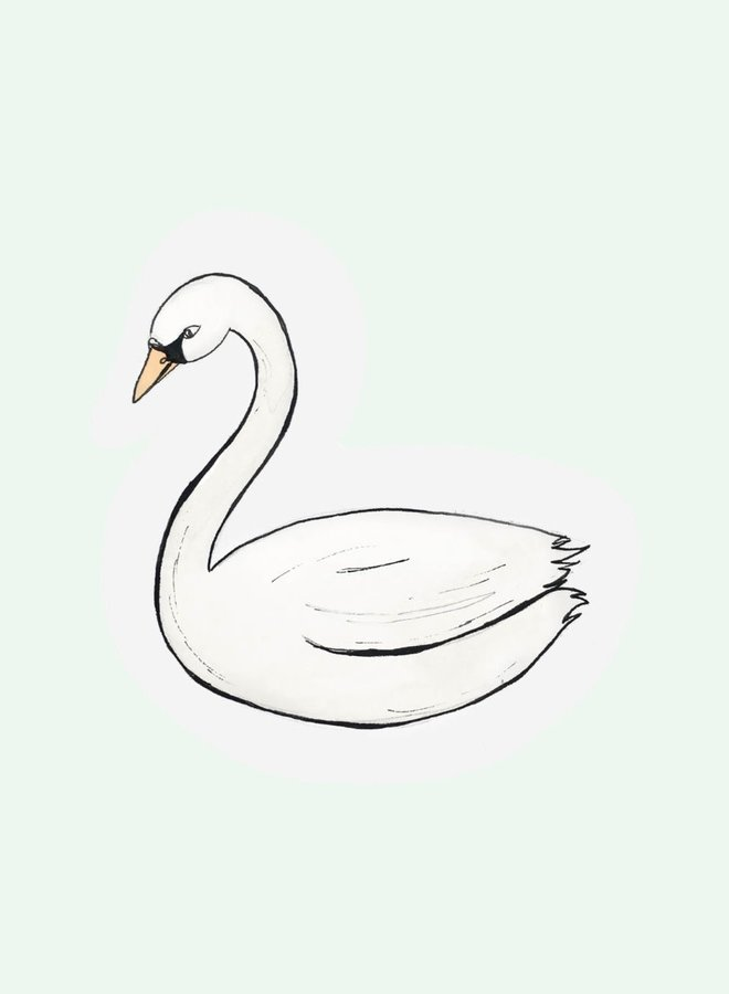 Cut out Cards - Swan