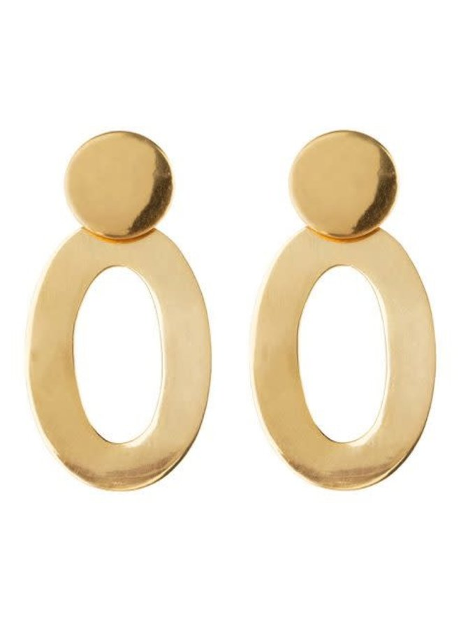 Classy Oval Big Mirror Gold