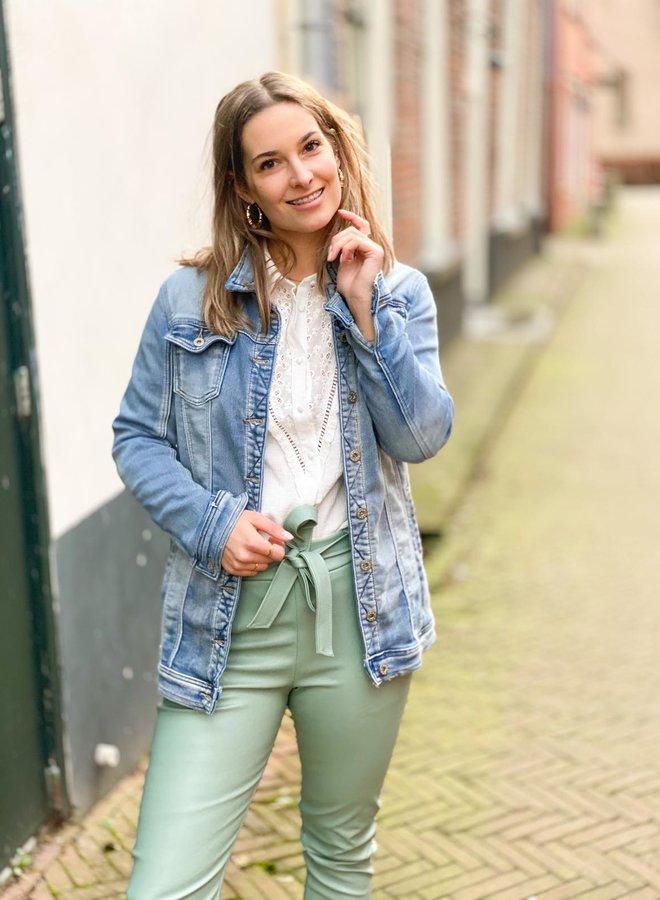 PU broek - Mint Groen