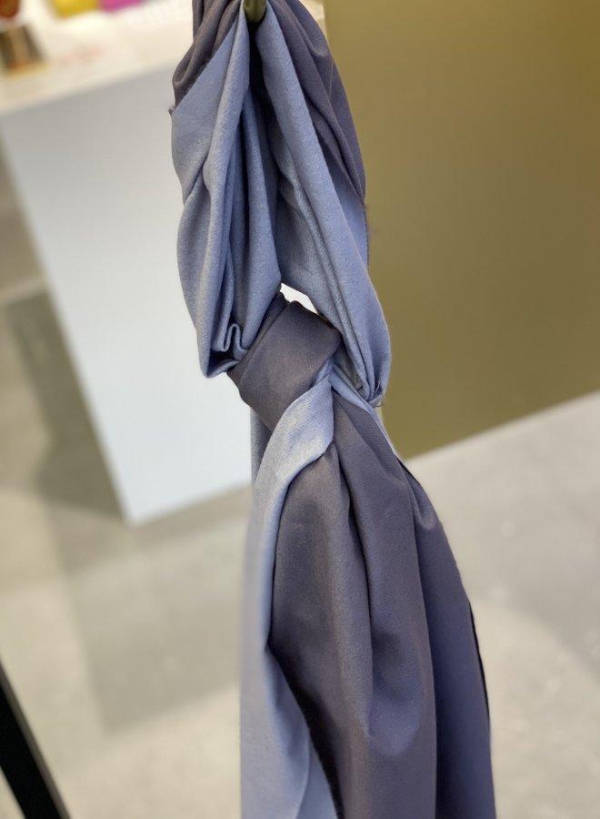 Effen sjaal 2 kleuren - Grey