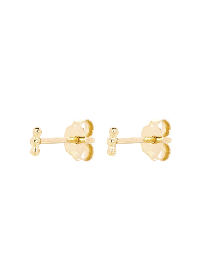 Oorbellen goud - straight three