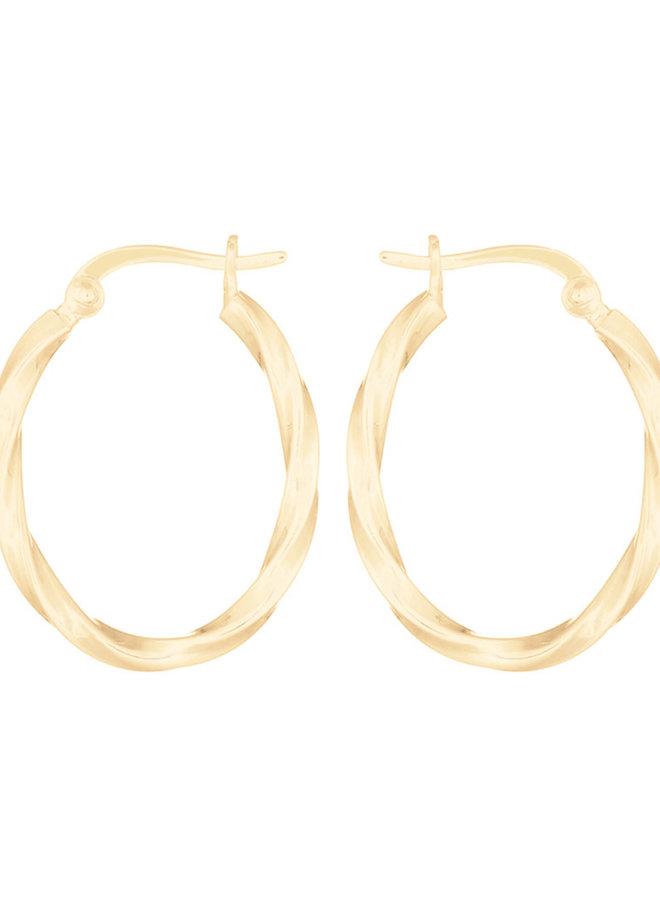 Oorbellen goud – turned oval