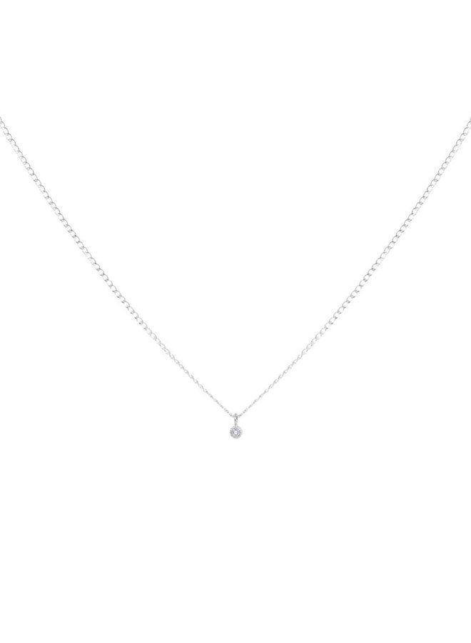 Ketting zilver – charmy white - 18 inch // 45,7 cm