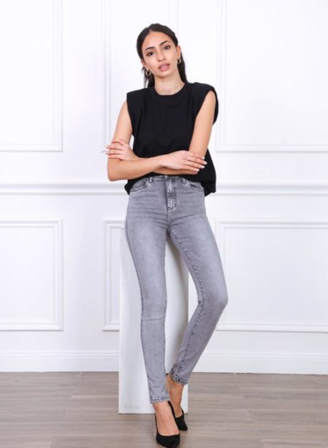 Toxik3 High waist skinny jeans met stretch