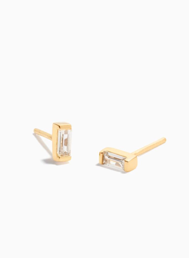 Zirconia baguette earrings