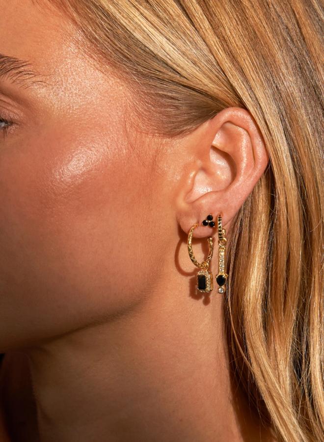 Black clover earrings