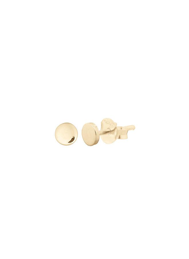 Oorbellen goud – flat stud round