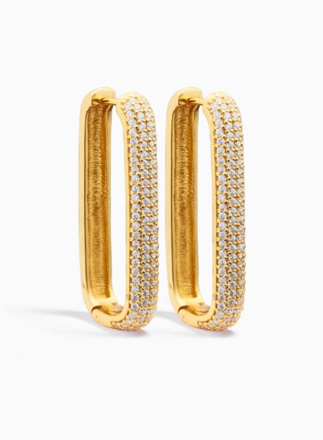Large Icon pavé hoops