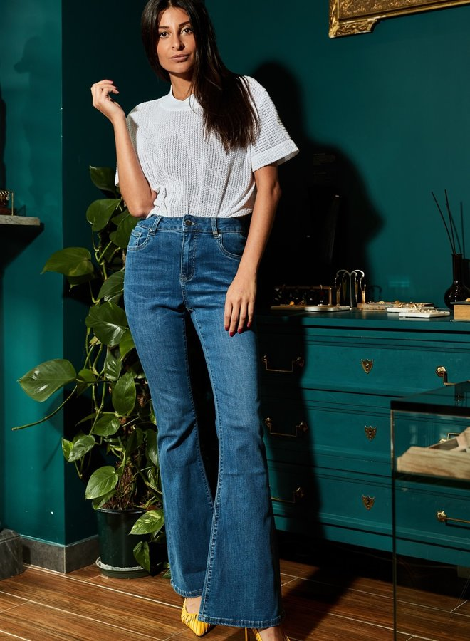 Toxik High Waste Flare jeans met stretch