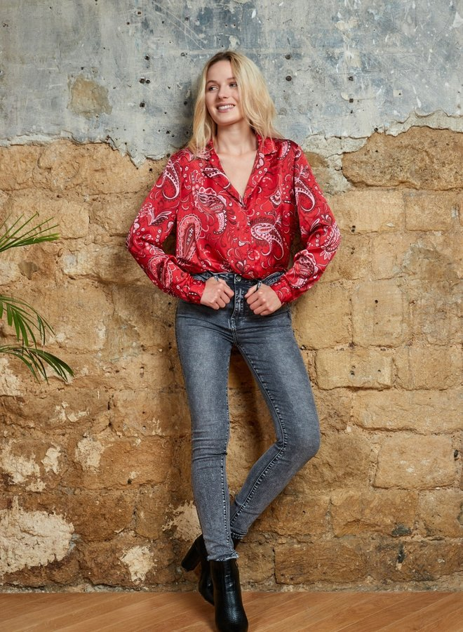 Toxik High Waste Jeans met stretch