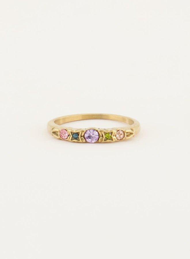 Vintage klassieke ring pastel