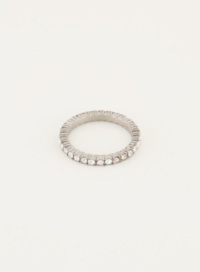 Vintage ring kristal