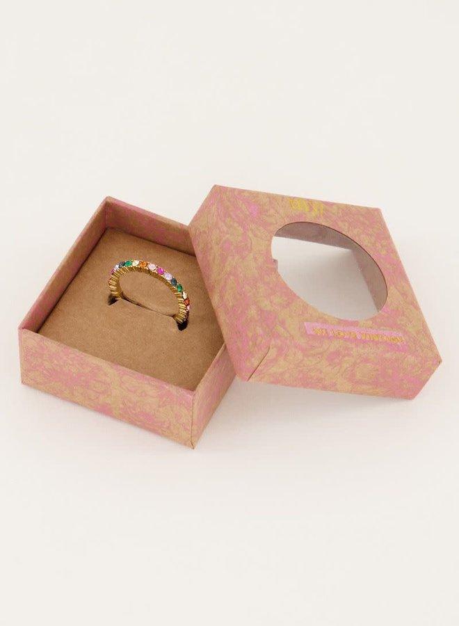 Vintage ring mutikleur