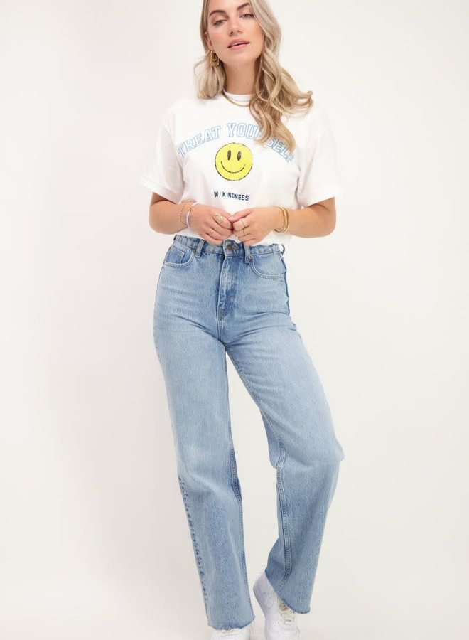 T-shirt met smiley print