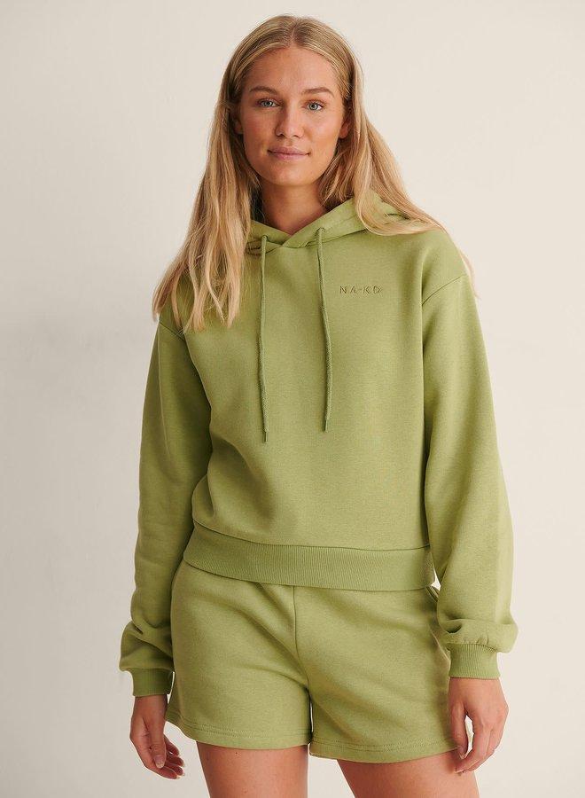 Organic logo basic hoodie