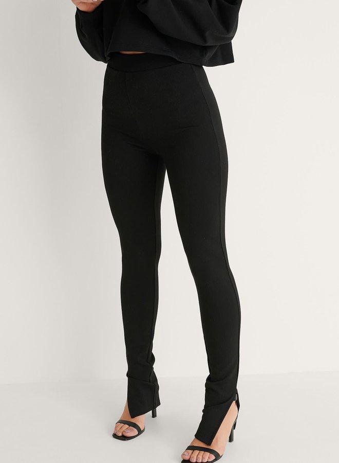 Side Slit Jersey Pants