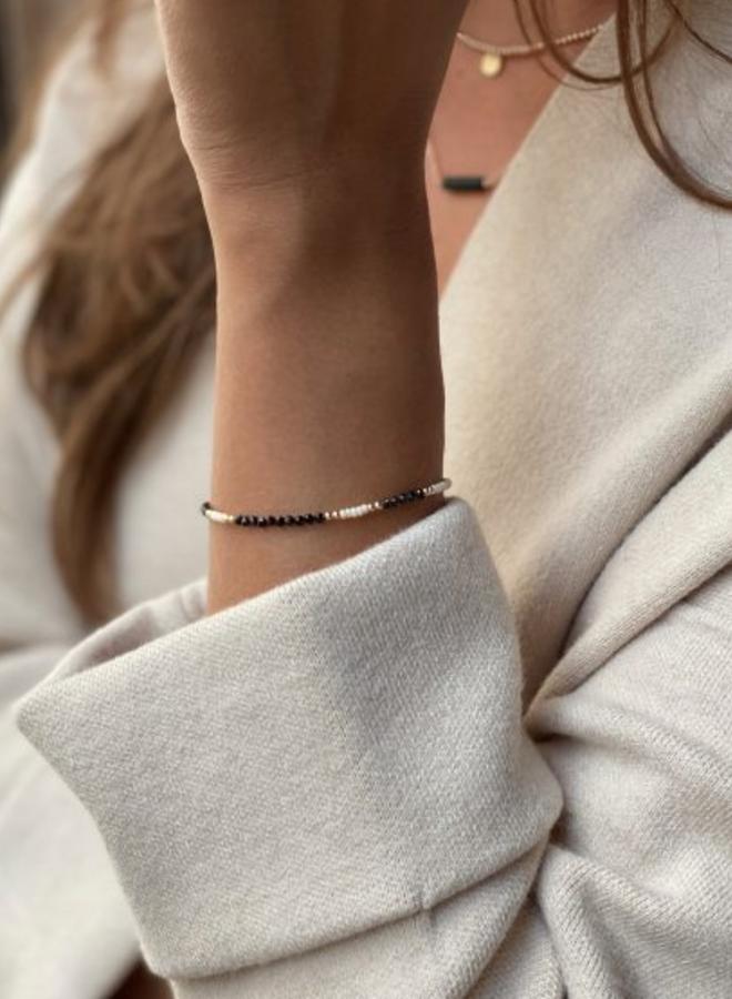 Armband goud – black & white