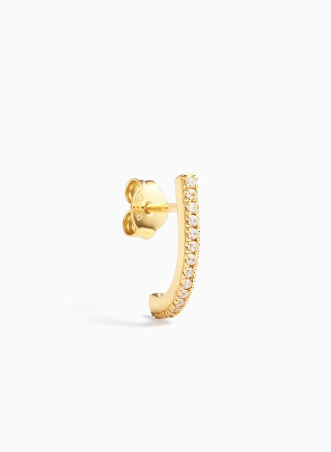 Single hook Gold plated sterling silver