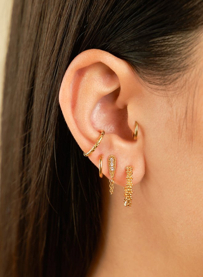 Floral Hoops Gold plated sterling silver