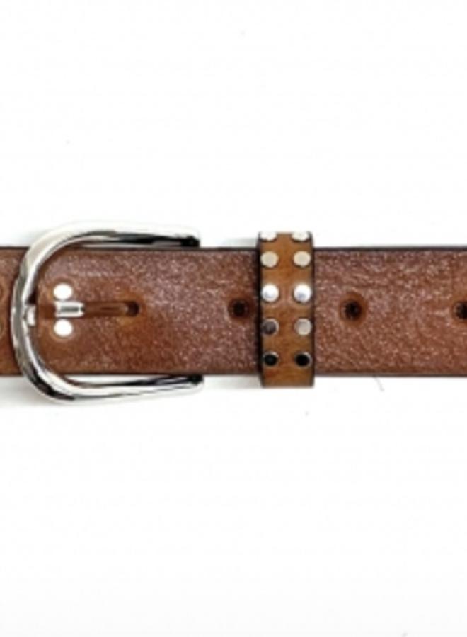 Leather Belt 3 cm - Cognac