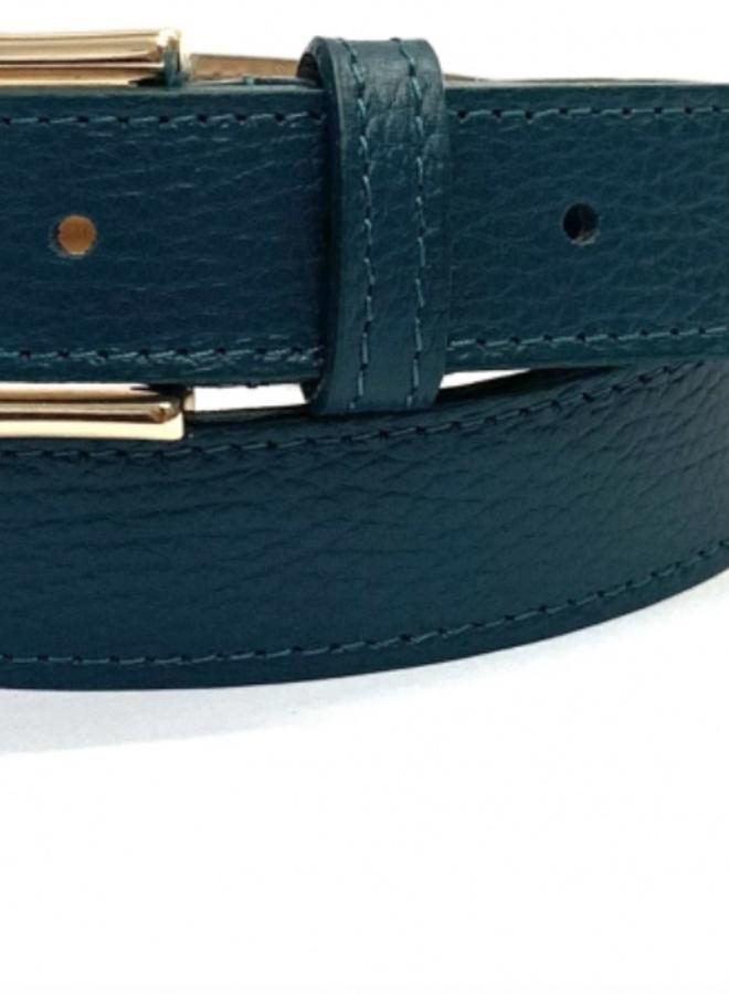 Leather Belt 3 cm - Petrol