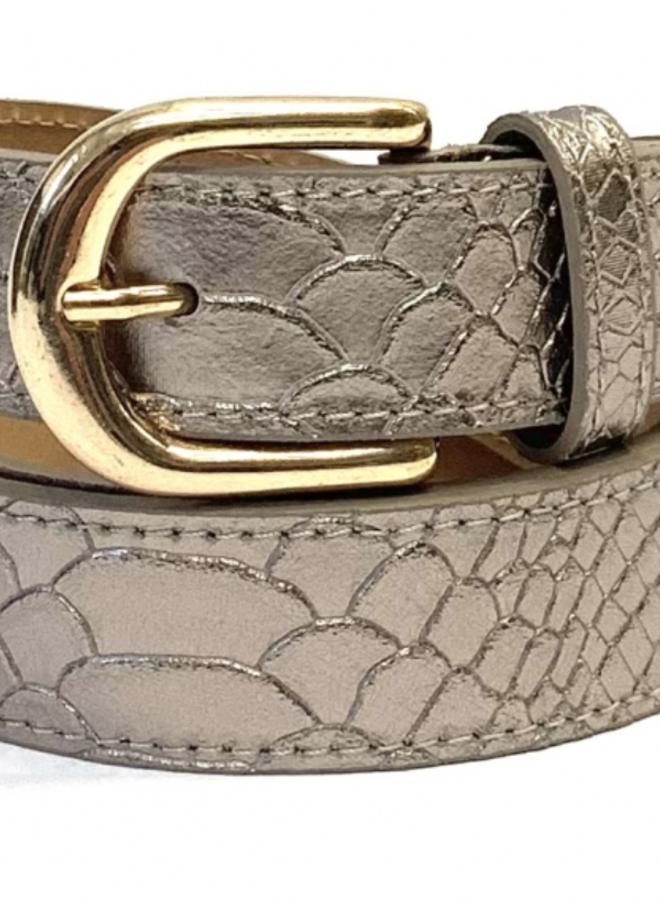 Leather Belt Python 3 cm - Bronze