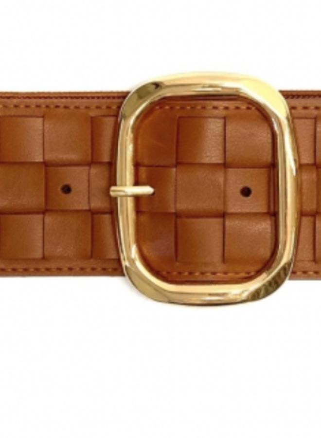 Elastic Belt 6 cm - Cognac