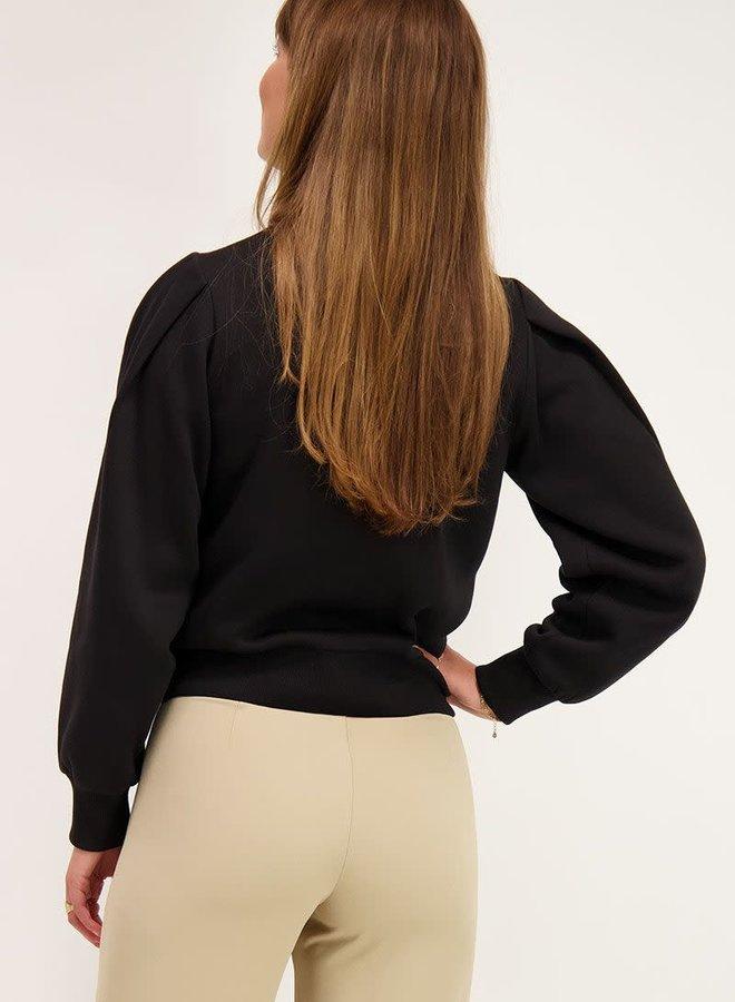 Zwarte sweater met V shape