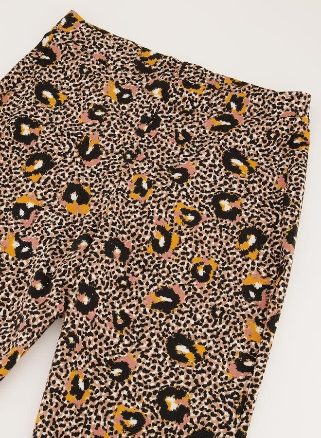 Flared broek met multikleur luipaard print