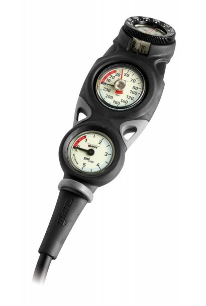 Mares Instrument Mission 3 - pressure gauge, depth gauge and compass