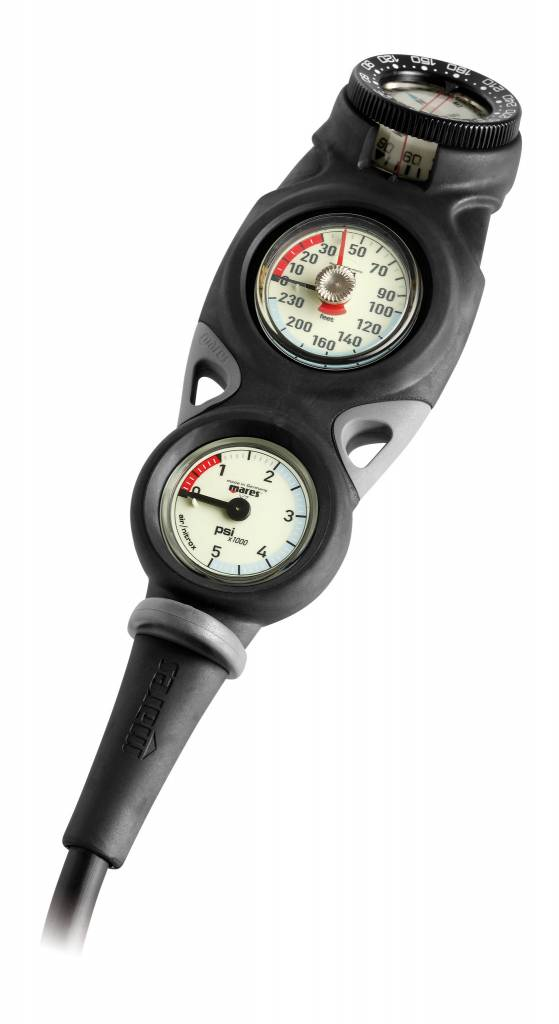 Mares Instrument Mission 3 - pressure gauge, depth gauge and compass-1