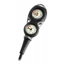 Mares Instrument Mission 2 - pressure gauge and depth gauge