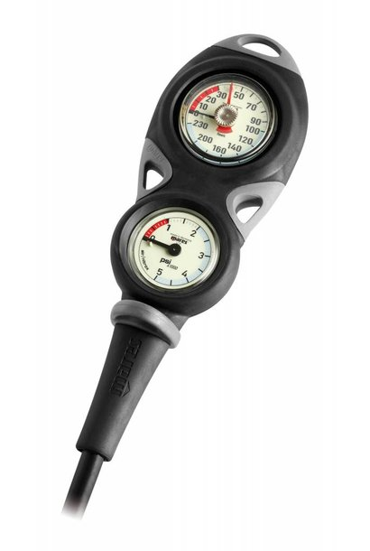 Mares Instrument Mission 2 - pressure gauge and depth gauge