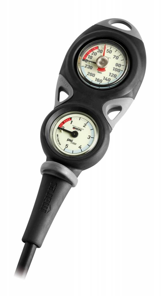 Mares Instrument Mission 2 - pressure gauge and depth gauge-1