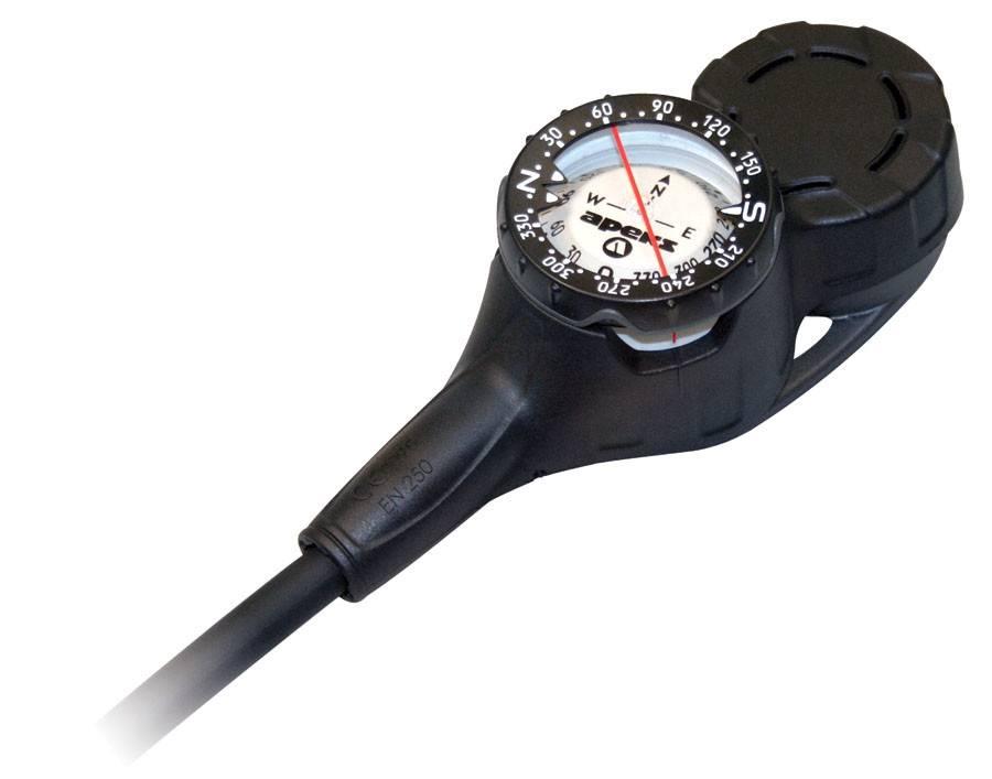 Apeks Pressure Gauge, Depth Gauge and Compass-2