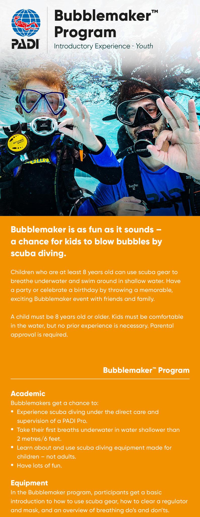 PADI Bubblemaker info