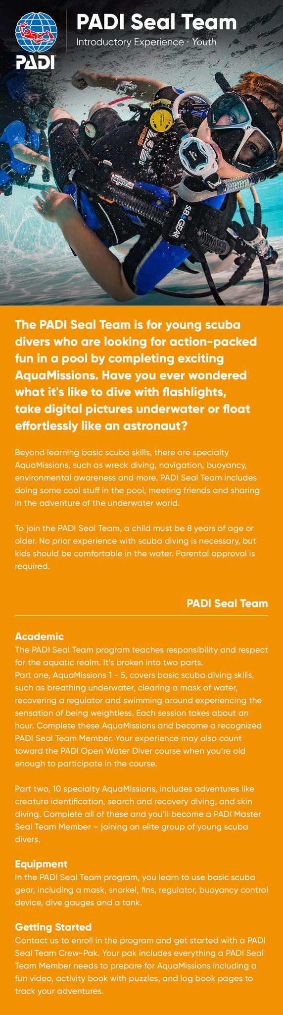 PADI Seal Team Information